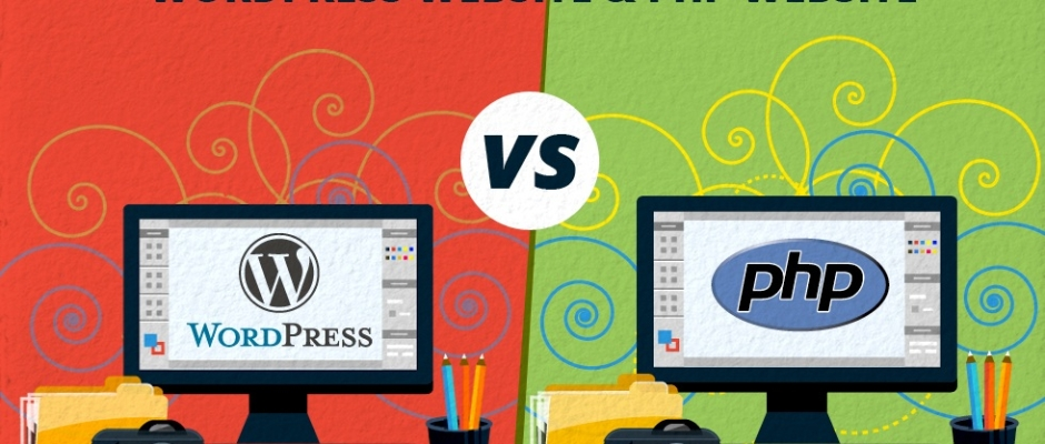 Difference between WordPress website and PHP website